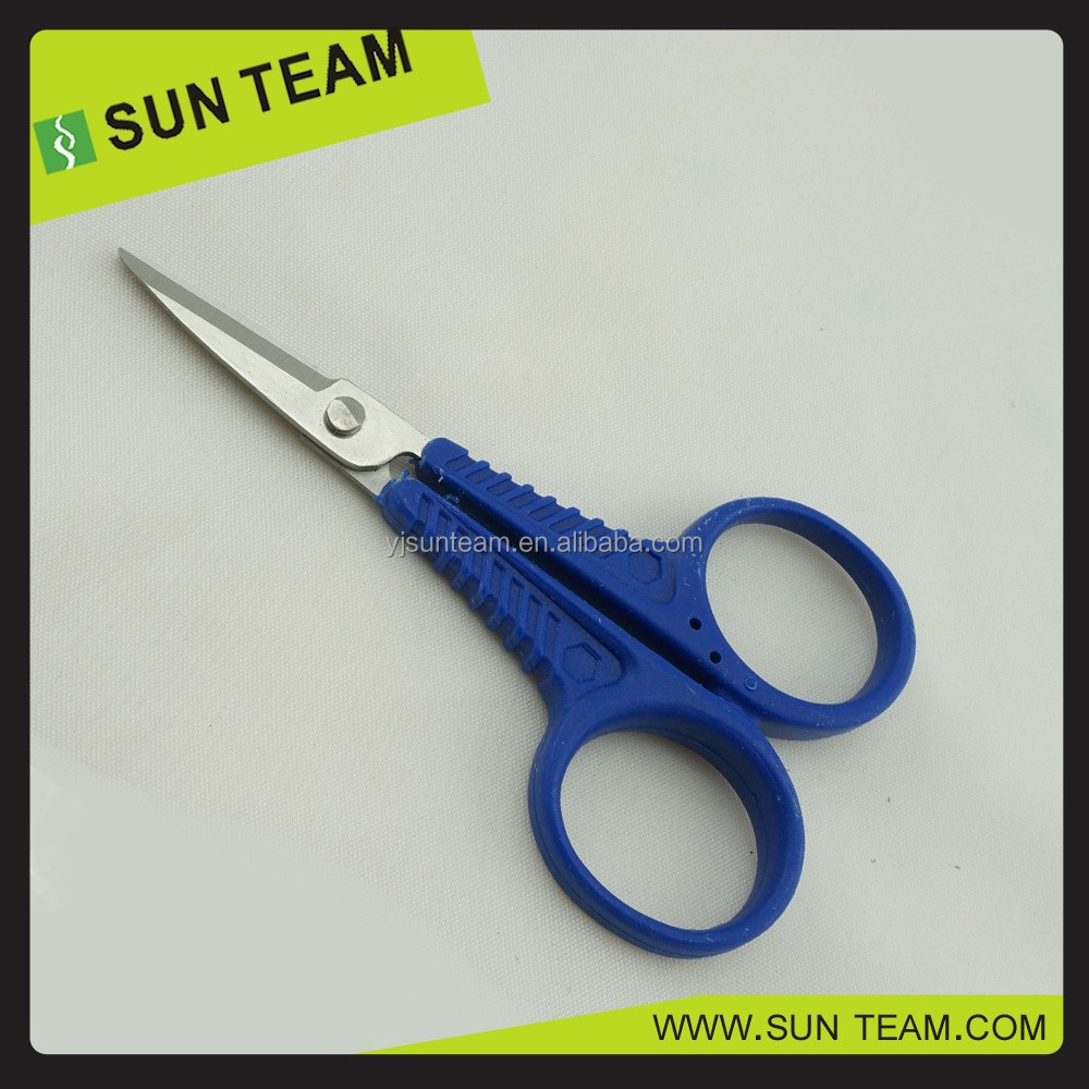 "SC097 4"" Short blade New PP handle fishing line scissor"