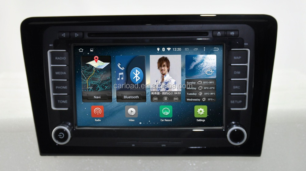 Android 4.4.4 quad core VW car dvd for 2 din VW Bora car gps