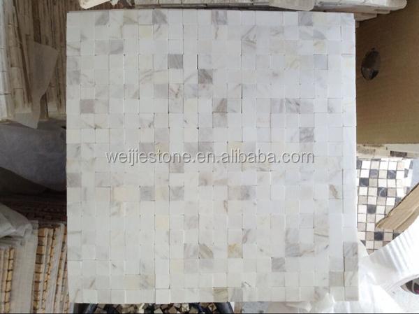 Marmer In Woonkamer : Natuurlijk wit marmer tegel installatie mozaïek zonder gewricht