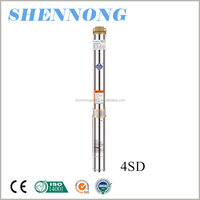 4 inch high pressure agricultural irrigation deep well submersible pump10m3/h to pump water