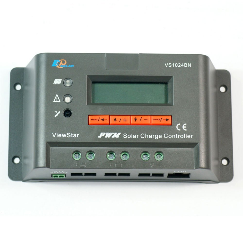 EPSOLAR Viewstar VS1024BN PWM Solar Charge Controller 10A 12/24V With LCD Display for Solar Battery Charging