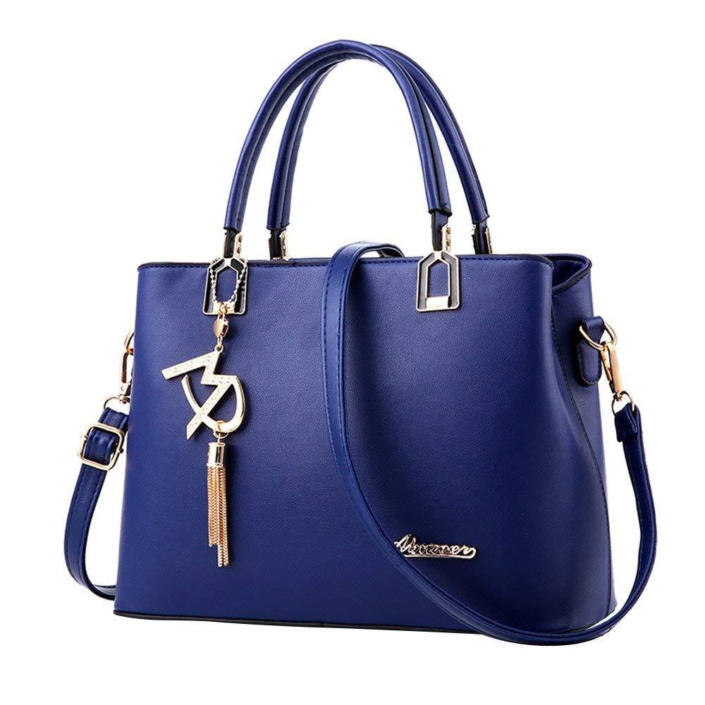 New Ladies Bag Simple Handbag Shoulder Bag,Outsta Women Large Bag Messenger Bag Purse Cosmetic Bag Classic Casual (Royal Blue)