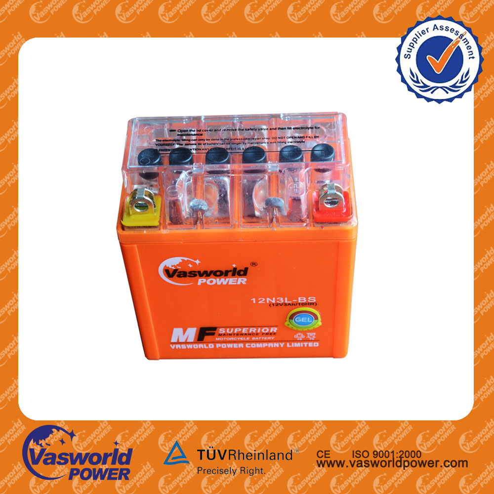 Gel motorcycle mf battery 12v 3ah best price