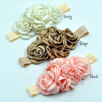 3 colors baby sister flower headbands wreaths