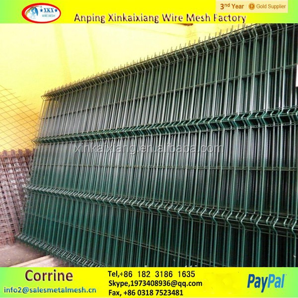 Green Vinyl Coated Welded Wire Mesh Fence, Green Vinyl Coated ...