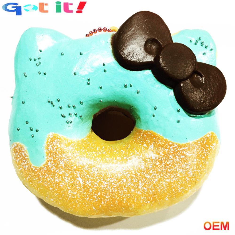 Custom Pu Memory Foam Kawaii Squishy Slow Rising Jumbo Squishies Donut Stress Toys For Children ...