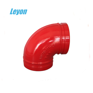 "ductile iron pipe fittings for pvc pipe 1""-24"" 90 elbow coating iron pipe fitting"