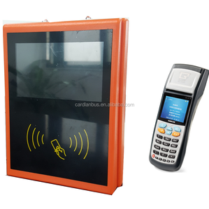 Orange Color Wireless POS System used on Public Bus,Factory Bus POS support GPRS and 4G