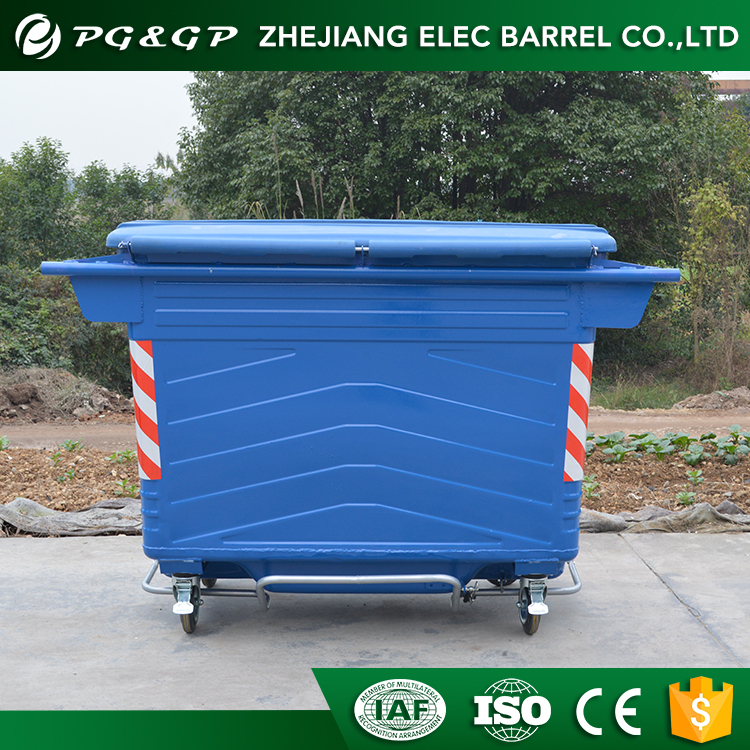4.0MM Wheel Base Thickness 1700L Garbage Can Storage