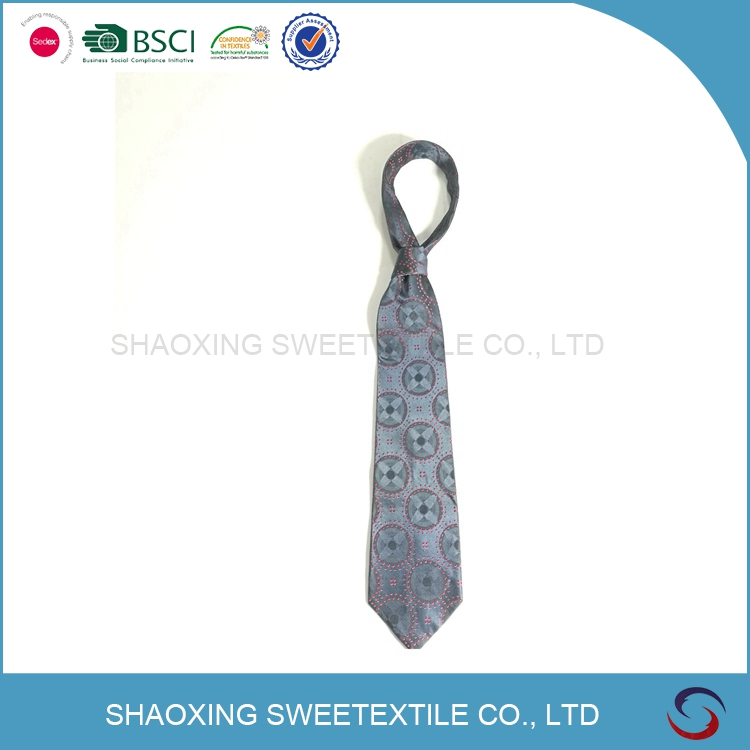 100% Handmade Perfect Knot Jacquard Woven Silk Neck Tie Men's