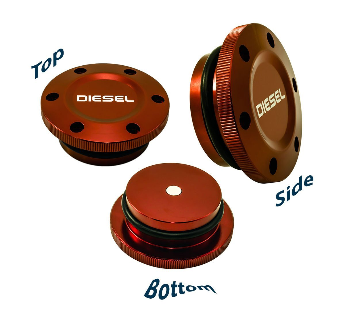 94c61e072d3 Get Quotations · 2013-2017 VMS Racing MAGNETIC FUEL CAP in RED Anodized  Billet Aluminum for Dodge Ram