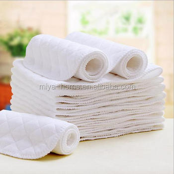 Hot sale three layer eco cotton diapers / free folding baby diapers / baby diaper wet baby supplies