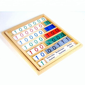Classic and attractive funny Montessori math learning wooden toys for kids with high quality