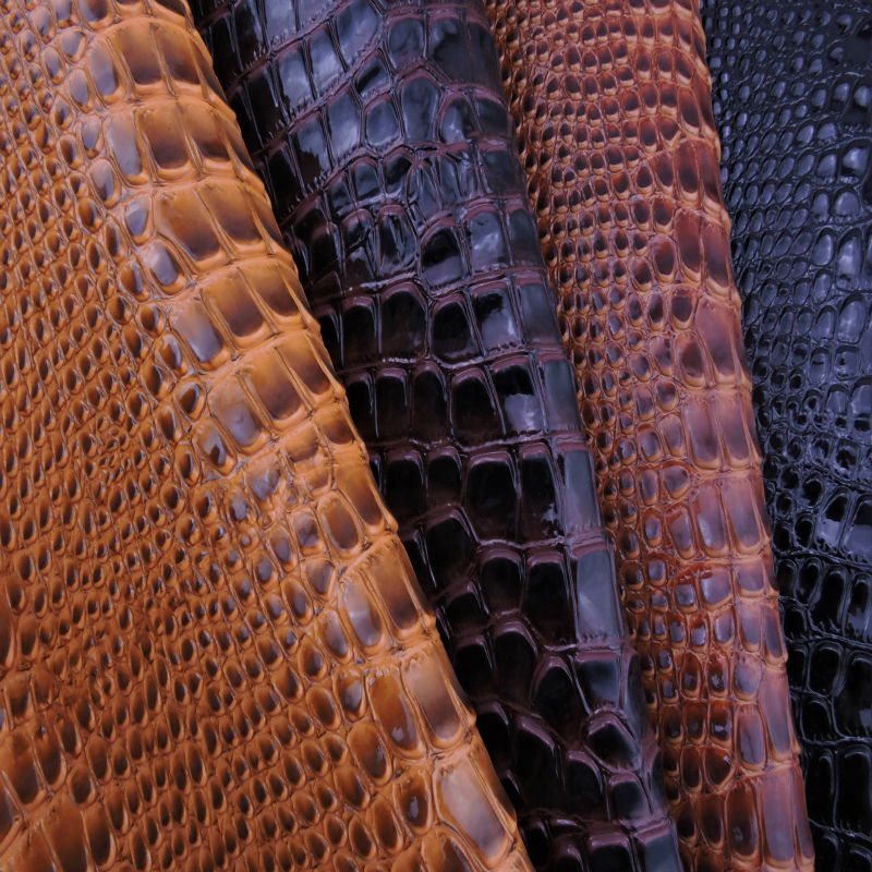 PVC <strong>leather</strong> with crocodile grain for boxes FC15061-A