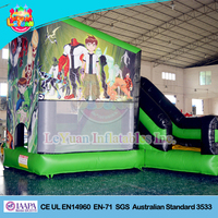 Newly Cartoon bouncer inflatables with slide / Bouncy Castle Commercial