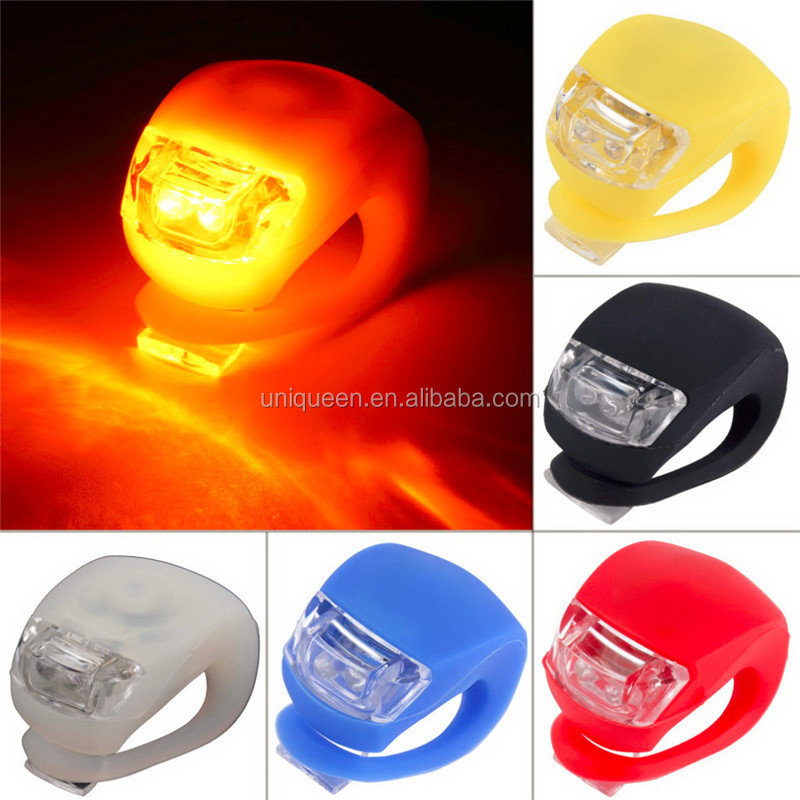 Hot Sell Wholesale Rubber Silicone Bike Light Bicycle Warning Cycling Head Front Rear Wheel Water-resistant LED Flash Light Lamp
