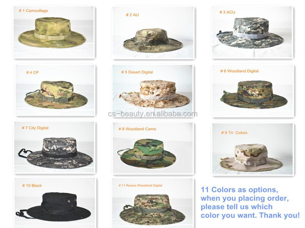 Camo Ala Ancha Sombrero Militar Del Sombrero Del Ejército Del Cubo ...