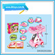 New Kids Toys Plastic Cosmetic Make Up Tools Set Push-Pull Car With Flexible Wheels With EN71 ASTM Certificate