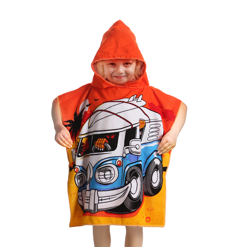 Microfiber Hooded Poncho Beach Towels for kids, kids Hooded Poncho Beach Towel