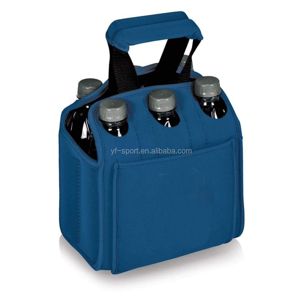 2016 3mm neoprene six 6 pack water bottle carrier