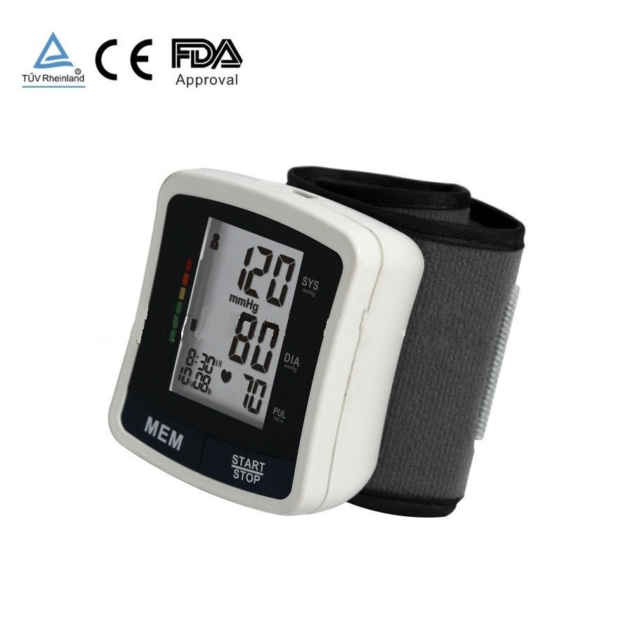 2017 hot sales digital wrist watch blood pressure monitor