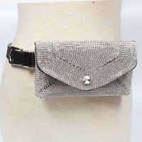 hot sell Bling Bling Women pu leather Diamonds fanny bag Purse Rhinestones Crystal Purse waist Bags