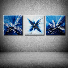 3Panels canvas wall art painting group stretched abstract handpaint oil painting