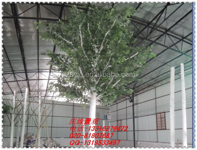 high range leisure centre artificial white birch tree / fake birches leaves / artificial silver birch tree for garden decoration