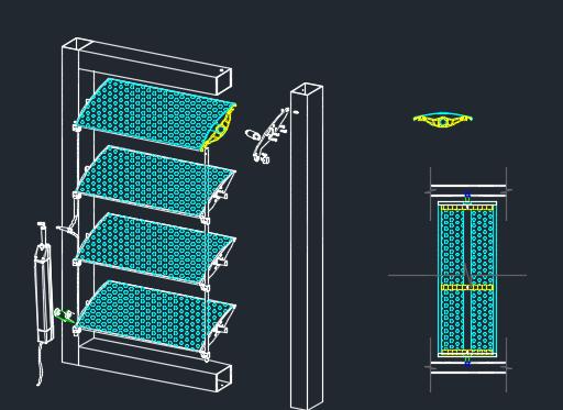 Aerofoil Fins Aluminum Profile Sun Louver