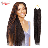 Belleshow wholesale 3X Box crochet braid hair box hair Crochet Braids box braids synthetic hair extensions MOQ 1PC