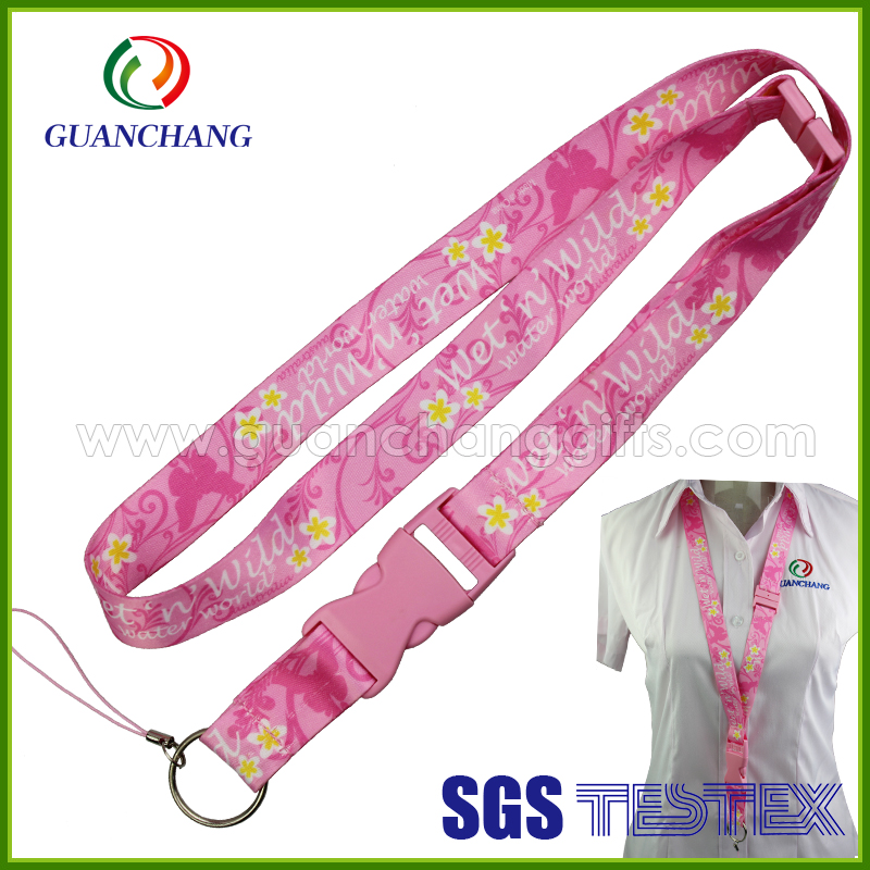New Design plain pink string lanyard,smart phone case with lanyard Pink