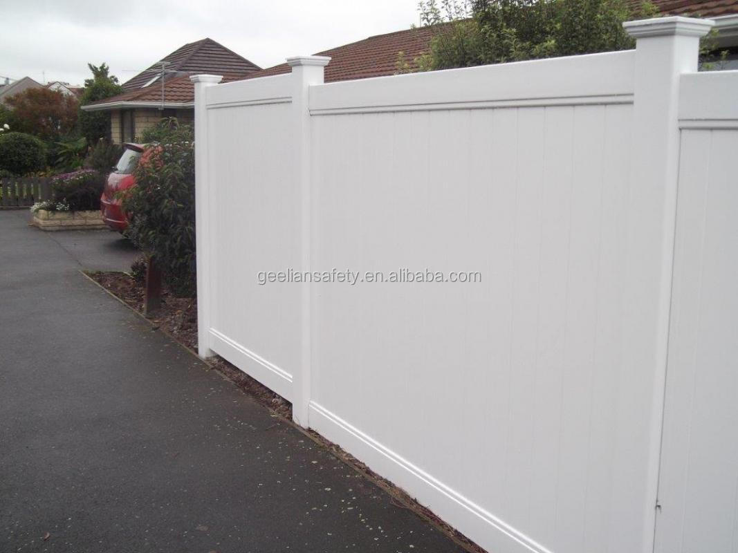 PVC tall residential privacy fences panels with custom size