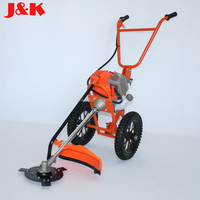 4 Stroke 31CC Hand push Type brush cutter with 2 wheels