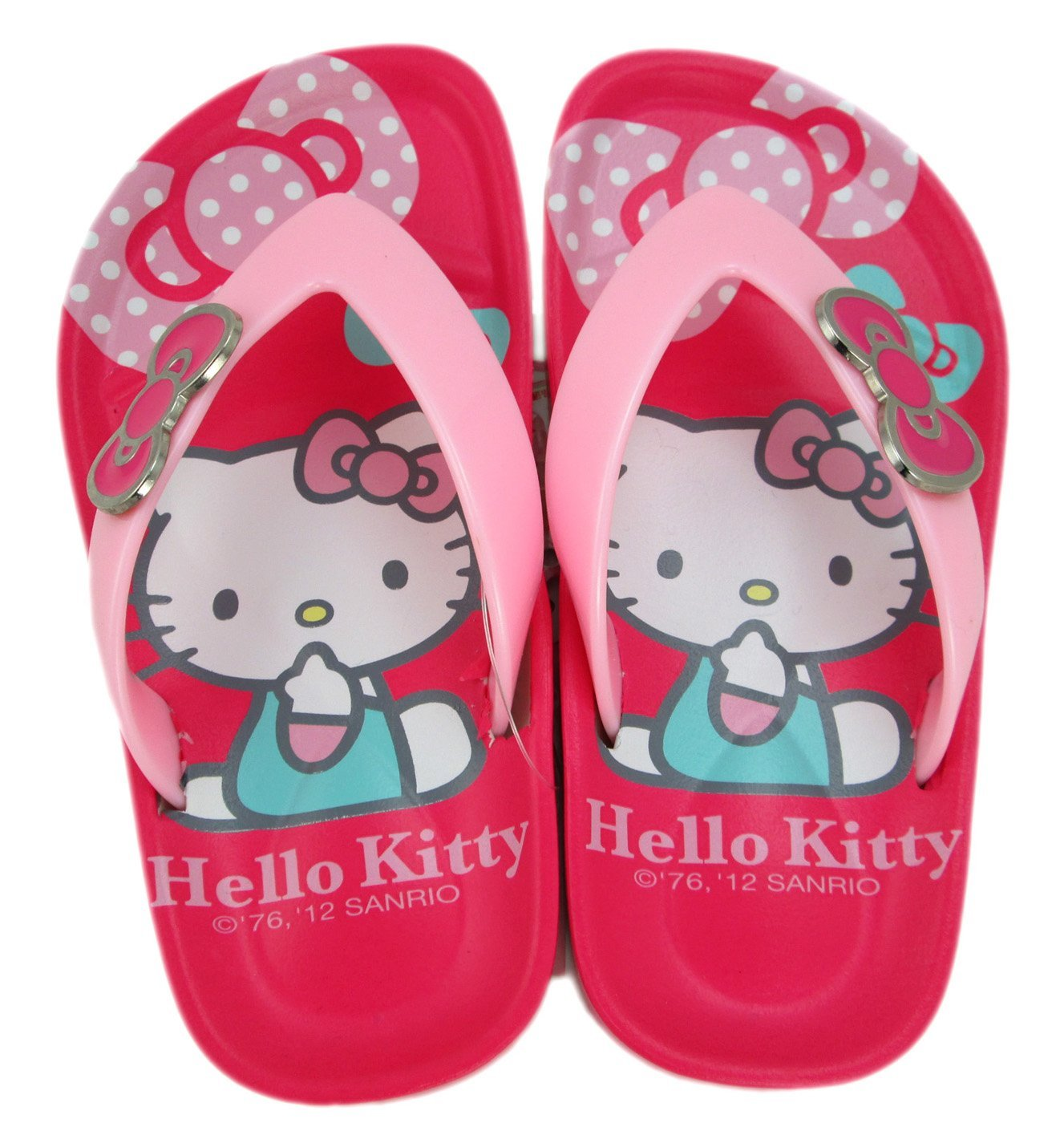 e4cb8181c72e Get Quotations · Size 6 Pink Hello Kitty Flip Flops - Hello Kitty Sandals