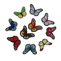 Sew On Patches For Clothing Multicolor Butterfly Embroidery Patch Appliques Badge Stickers For Clothes