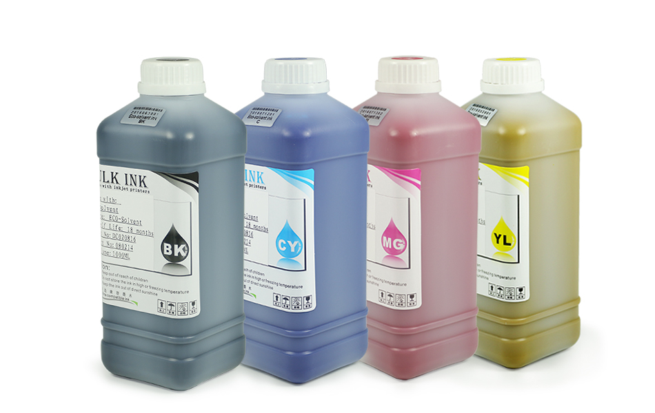 8f5907a4d12 1000ML 4 Colors Set Eco Solvent Ink For Mutoh Valuejet VJ 1204 1304 ...