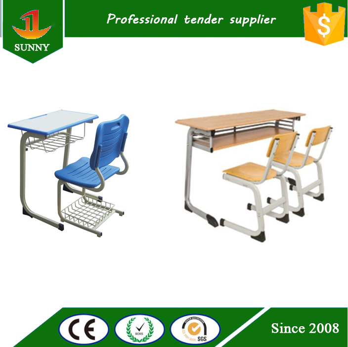 2016 New Double School Desk and chair,Student furniture