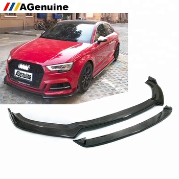 Agenuine Full Carbon Fiber Front Chin Car Front Bumper Lip Spoiler For Audi A3 S3 Sline Buy Carbon Fiber Front Lip A3 Carbon Fiber Front Lip A3