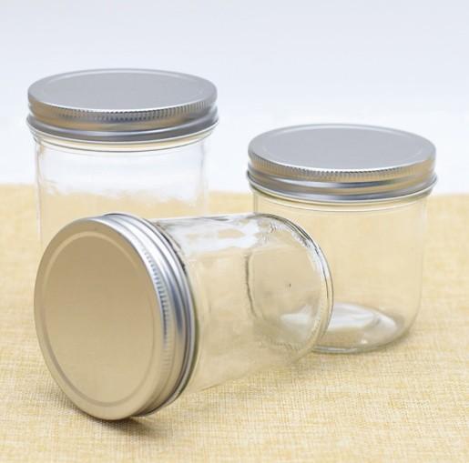 Haonai geniş ağızlı cam turşu kavanozu/cam kavanoz metal kapaklı/cam kavanozlar reçel için.