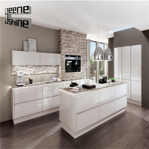 High gloss American kitchen remodeling corner sink cabinet with dtc kitchen cabinet hinges