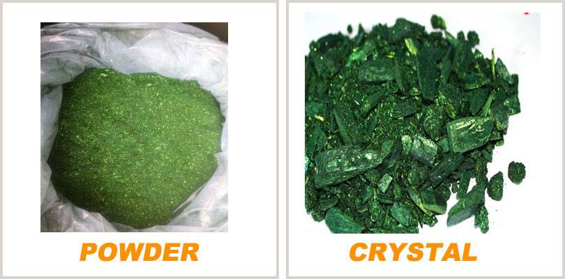 Basic malachite green crystals/powder CI basic green 4