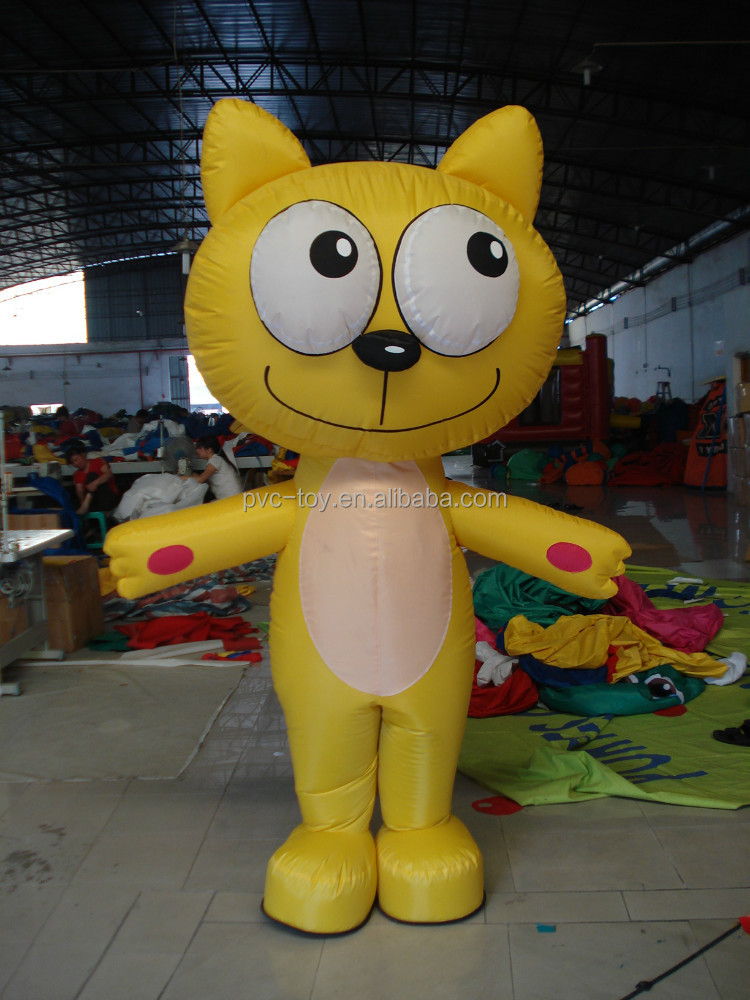 lovely gaint cartoon inflatable cat for display