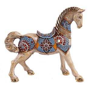 hot sell unique cheap resin horse sculptures