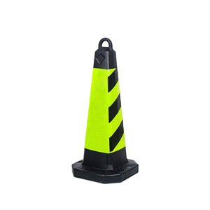 light weight red and white safety traffic barrier cones