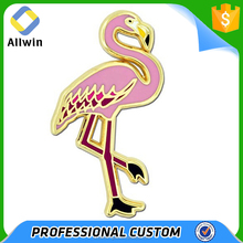 Custom Pink Flamingo Bird Enamel Lapel Pin