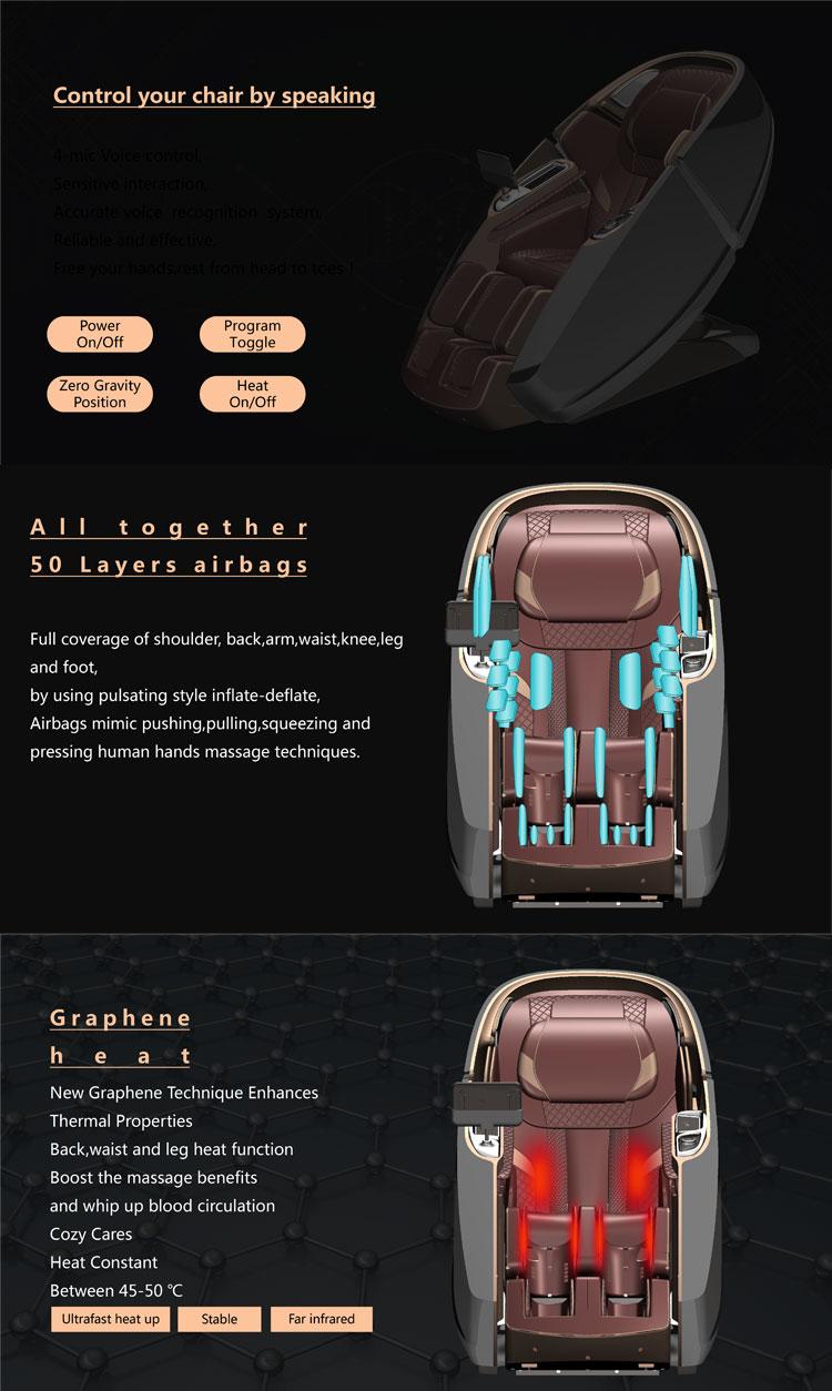 卸売最高の 4D SL トラック加熱されたフルボディマッサージチェア