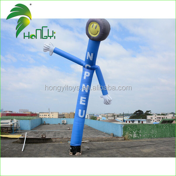 Advertising Tyre Design Inflatable Air Tube Man / Event Promotion Display Inflatable Fly Tube Dancer