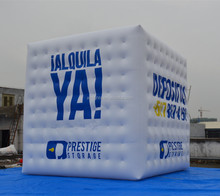 Helium Gas Balloon, Advertising Inflatable Cube Balloon with 4 Side Logo Printings, Square Helium Balloons
