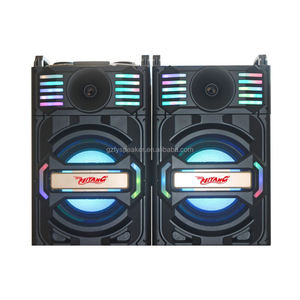 "feiyang 2.0 active stage speaker system big power single 12"" woofer with one UHF wireless microphone bt fm radio usb sd"