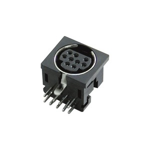 Black Metal Shield Housing 9 pin din connector